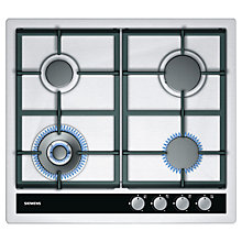 Buy Siemens EC645HC90E Gas Hob, Stainless Steel Online at johnlewis.com