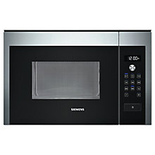 Buy Siemens HF24M564B Built-In Compact Microwave Oven, Stainless Steel Online at johnlewis.com