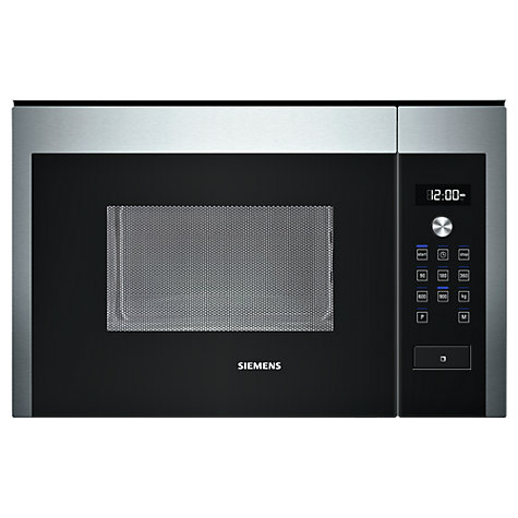 buy siemens hf24m564b built in compact microwave stainless steel john lewis. Black Bedroom Furniture Sets. Home Design Ideas