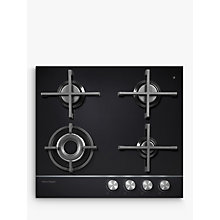 Buy Fisher & Paykel CG604DLPGB1 LPG Gas Hob, Black Glass Online at johnlewis.com