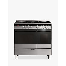 Buy Fisher & Paykel OR90L7DBGFX Dual-Fuel Range Cooker, Brushed Stainless Steel and Black Glass Online at johnlewis.com