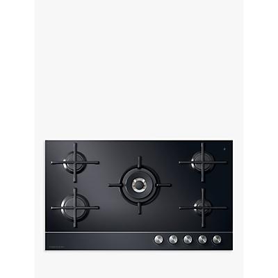 Fisher & Paykel CG905DLPGB1 LPG Gas Hob, Black Glass