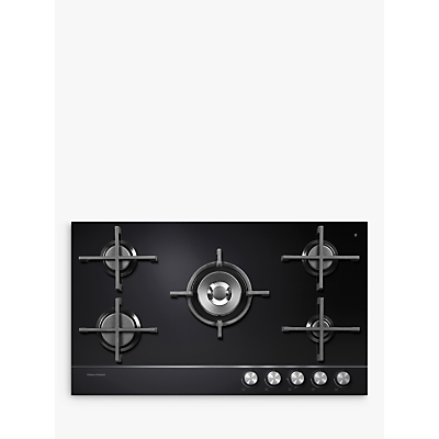 Image of Fisher & Paykel CG905DNGGB1 Gas Hob, Black Glass