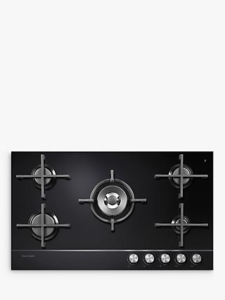 Fisher & Paykel CG905DNGGB1 Gas Hob, Black Glass