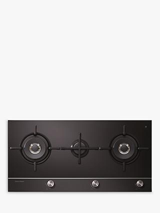 Fisher & Paykel CG903DNGGB1 Gas Hob, Black Glass