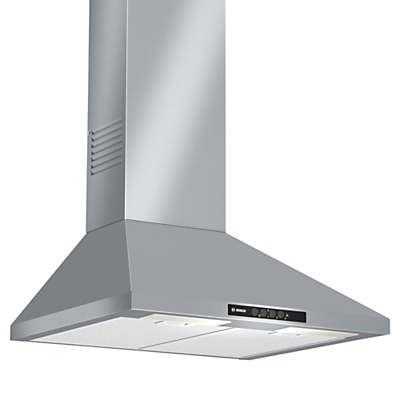 Image of Bosch DWW06W450B Chimney Hood, Brushed Stainless Steel