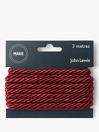 John Lewis & Partners 5mm Twisted Cord, 3m