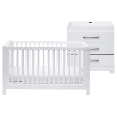 Silver Cross Notting Hill Cotbed & Dresser, White