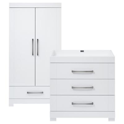 Silver Cross Notting Hill Wardrobe & Dresser, White