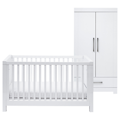 Silver Cross Notting Hill Cotbed & Wardrobe, White