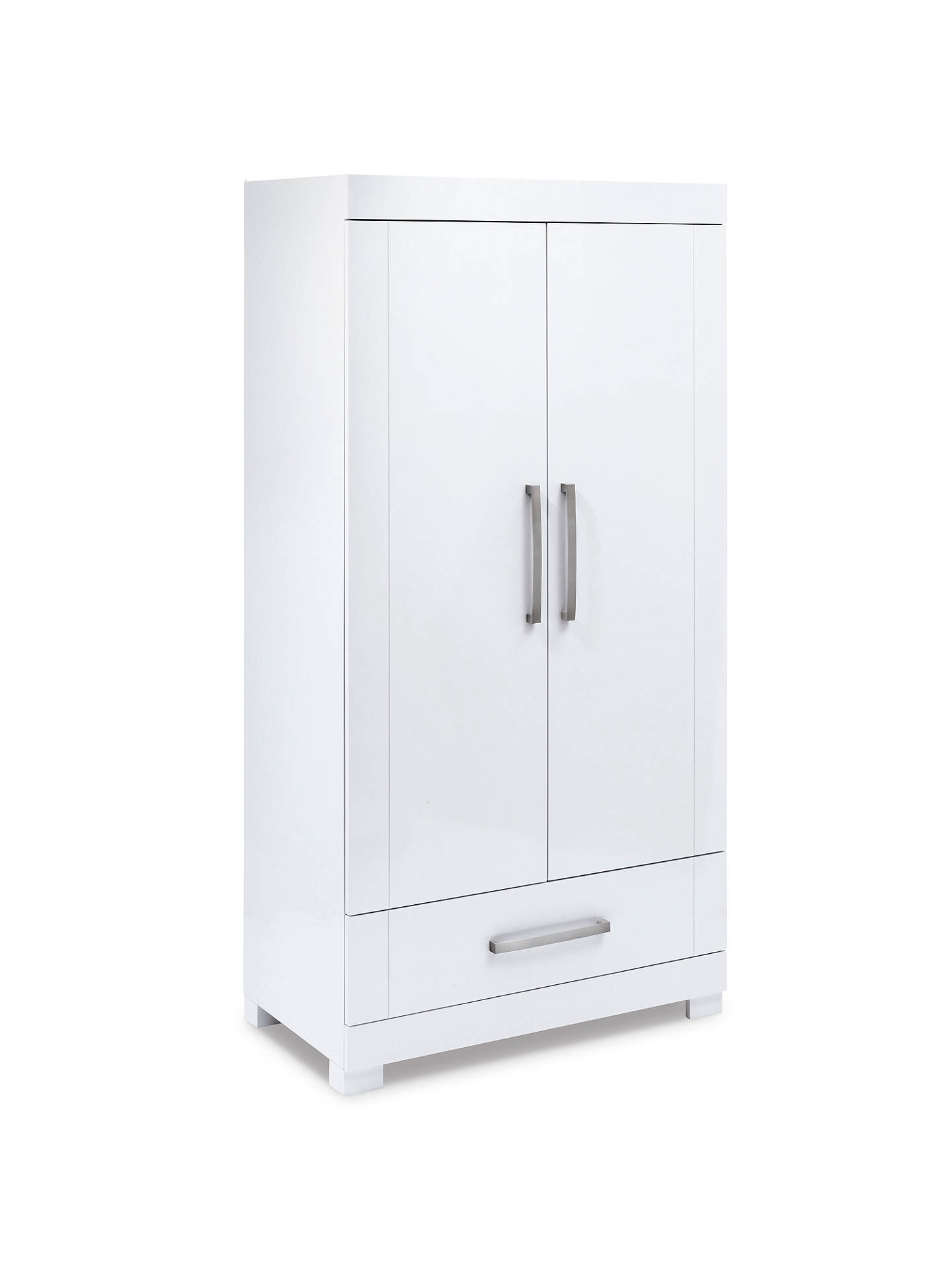 BuySilver Cross Notting Hill Cotbed & Wardrobe, White Online at johnlewis.com