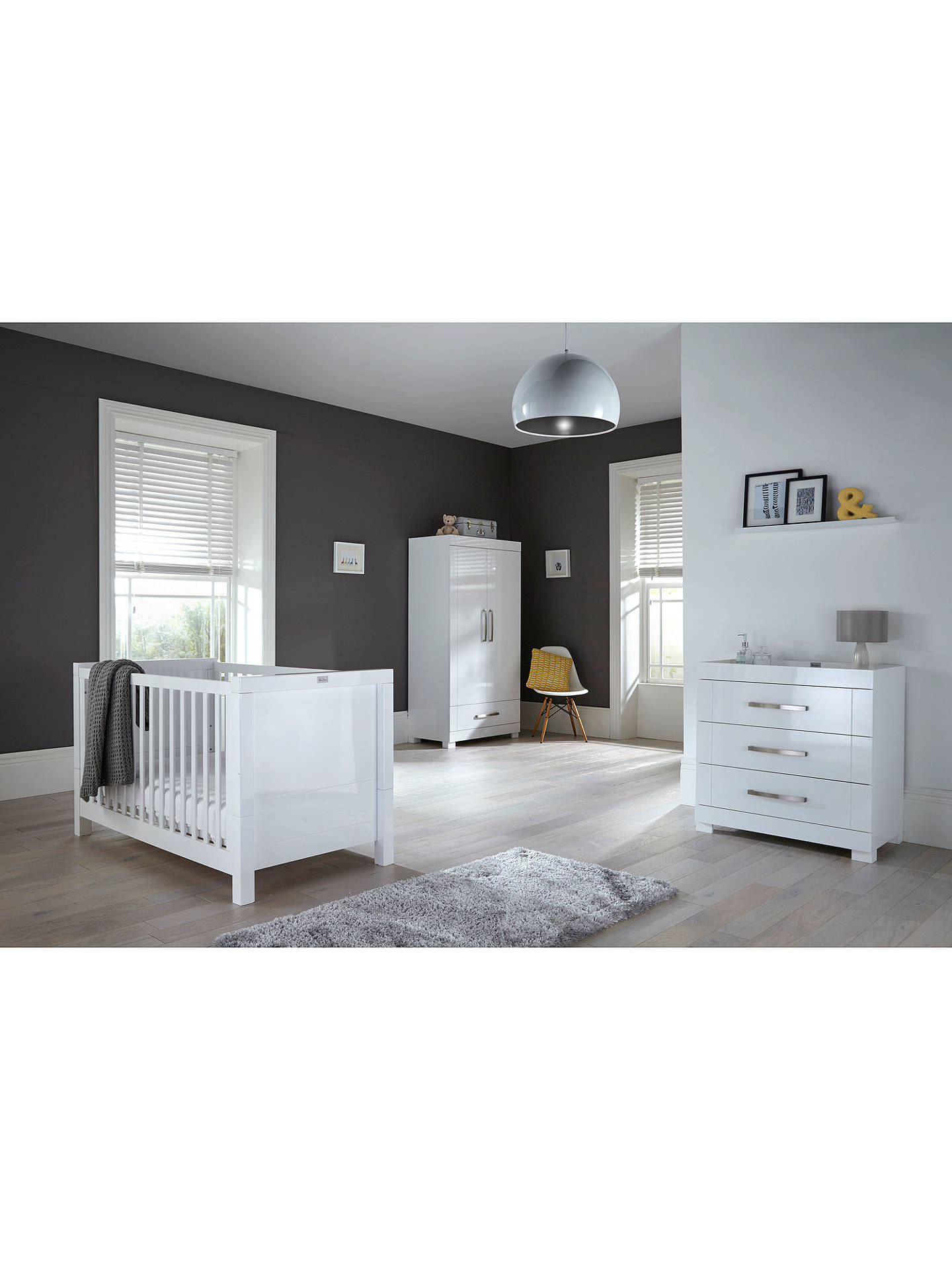 Buy Silver Cross Notting Hill Dresser, Gloss White Online at johnlewis.com