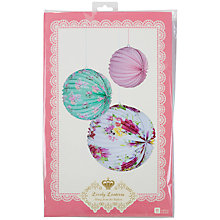 Buy Talking Tables Truly Scrumptious Lantern Decorations, Set of 3 Online at johnlewis.com