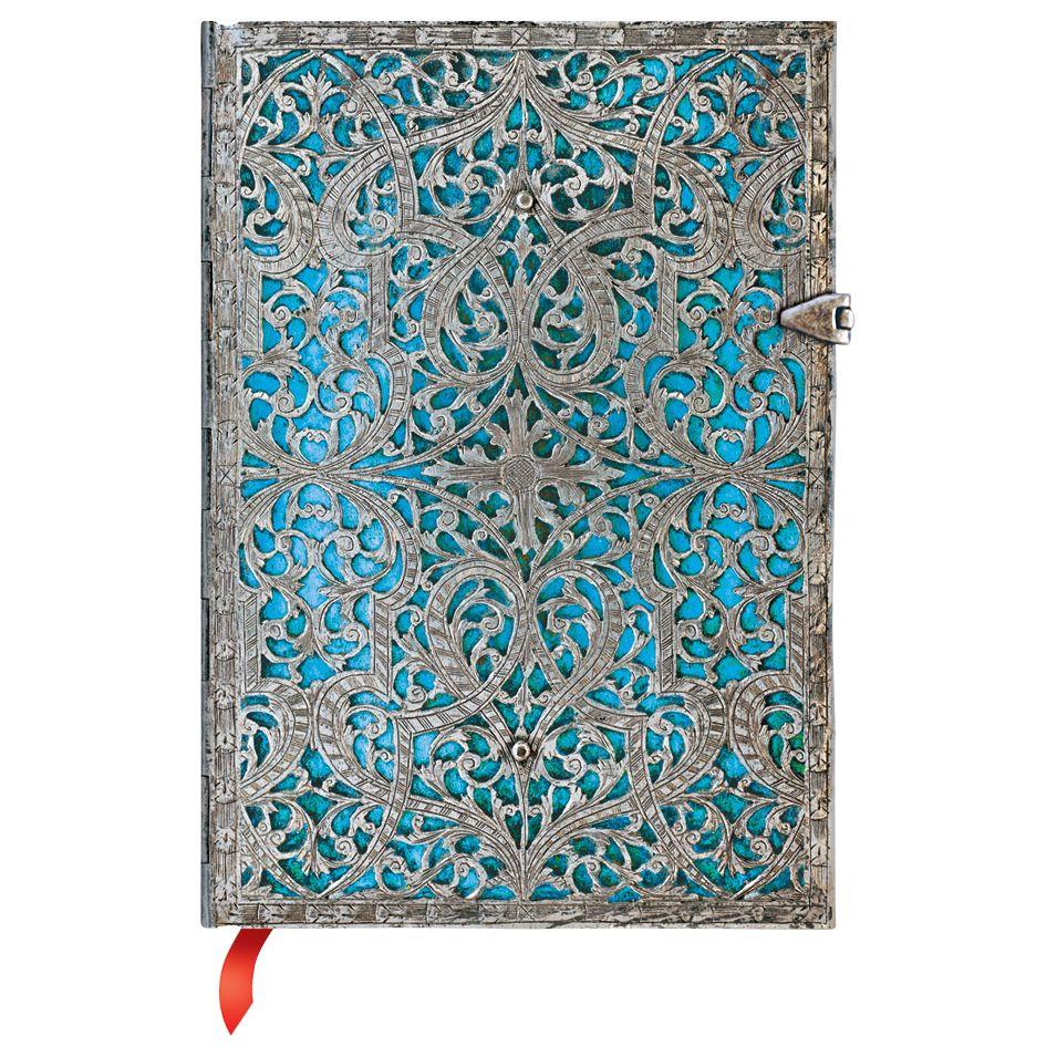 Paperblanks Paperblanks Filigree Maya Blue Midi Journal