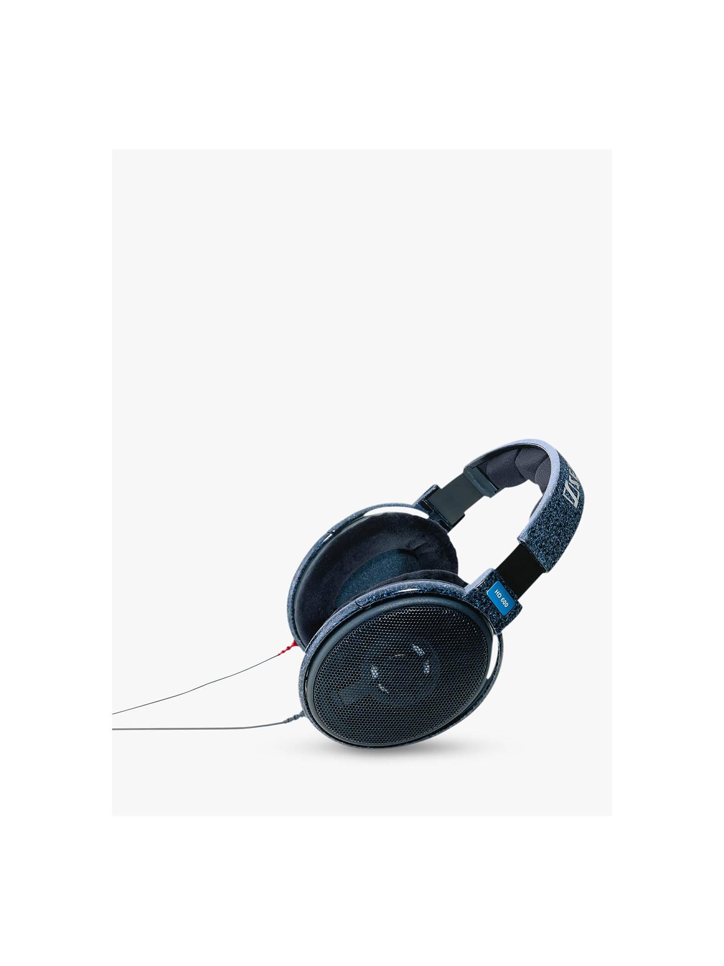 sennheiser hd 600 full size headphones black at john lewis partners. Black Bedroom Furniture Sets. Home Design Ideas