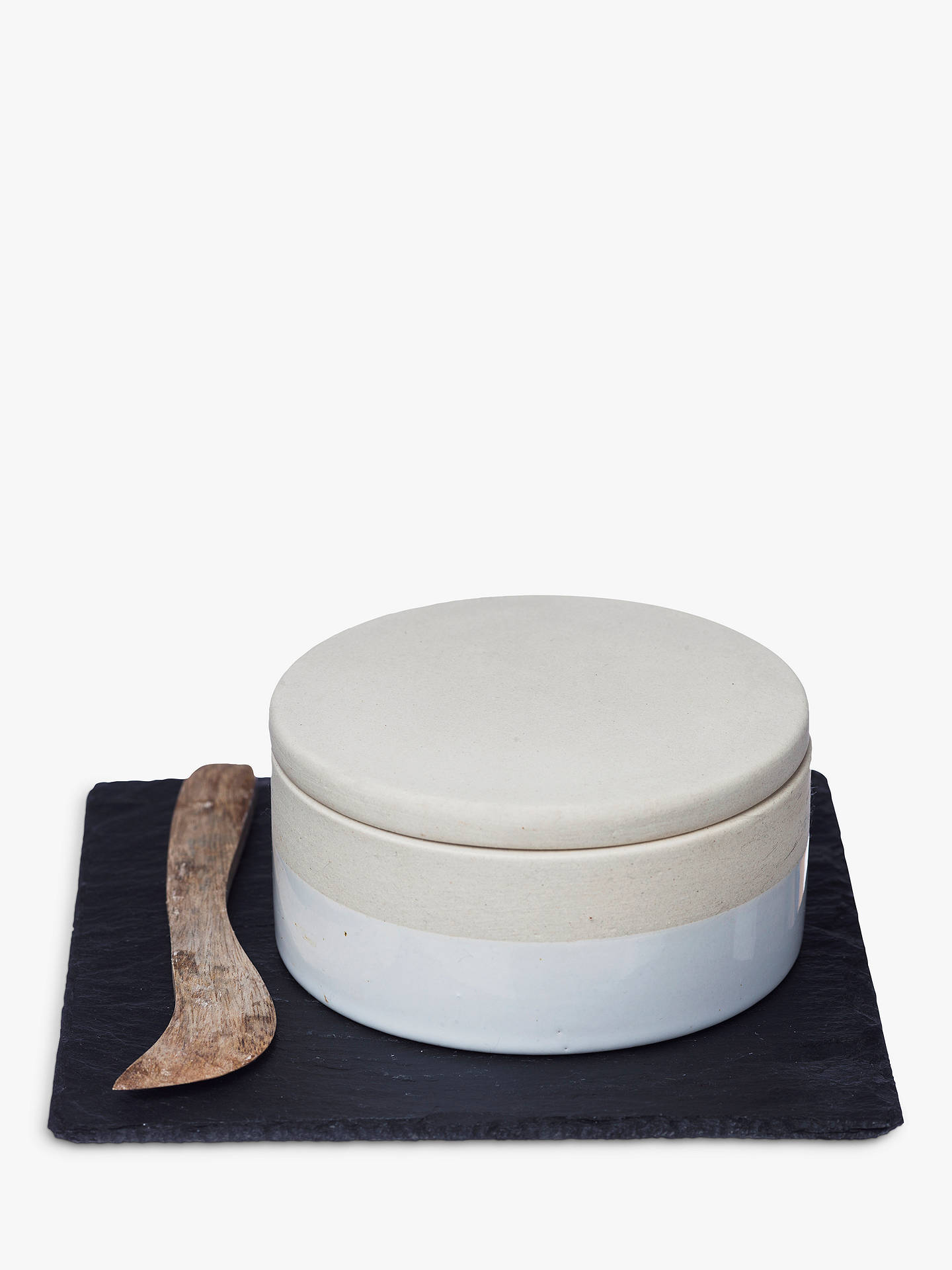 BuyJust Slate Camembert Baker and Knife Online at johnlewis.com