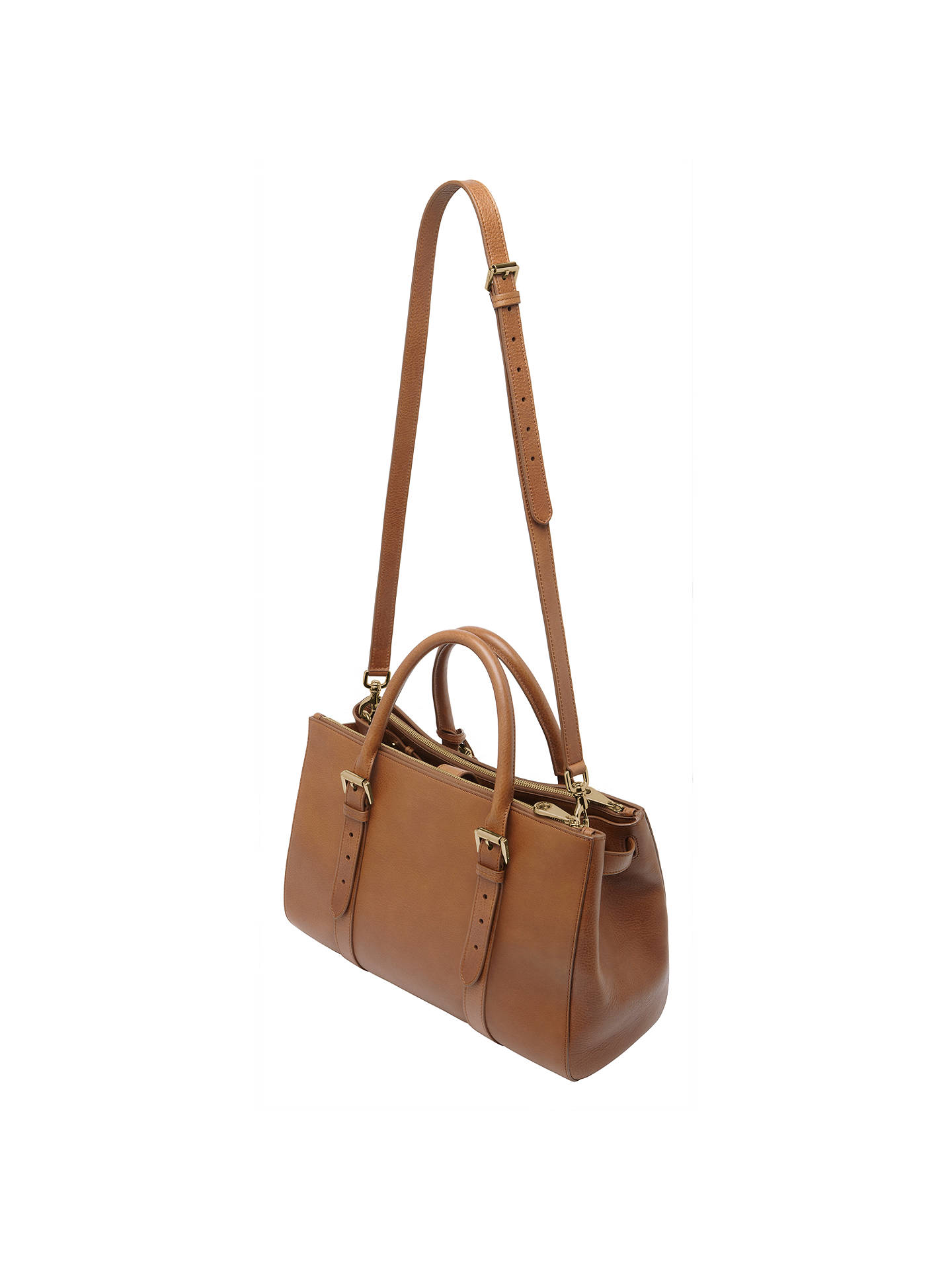 6667932b304 ... Buy Mulberry Bayswater Leather Double Zip Tote Bag, Oak Online at  johnlewis.com