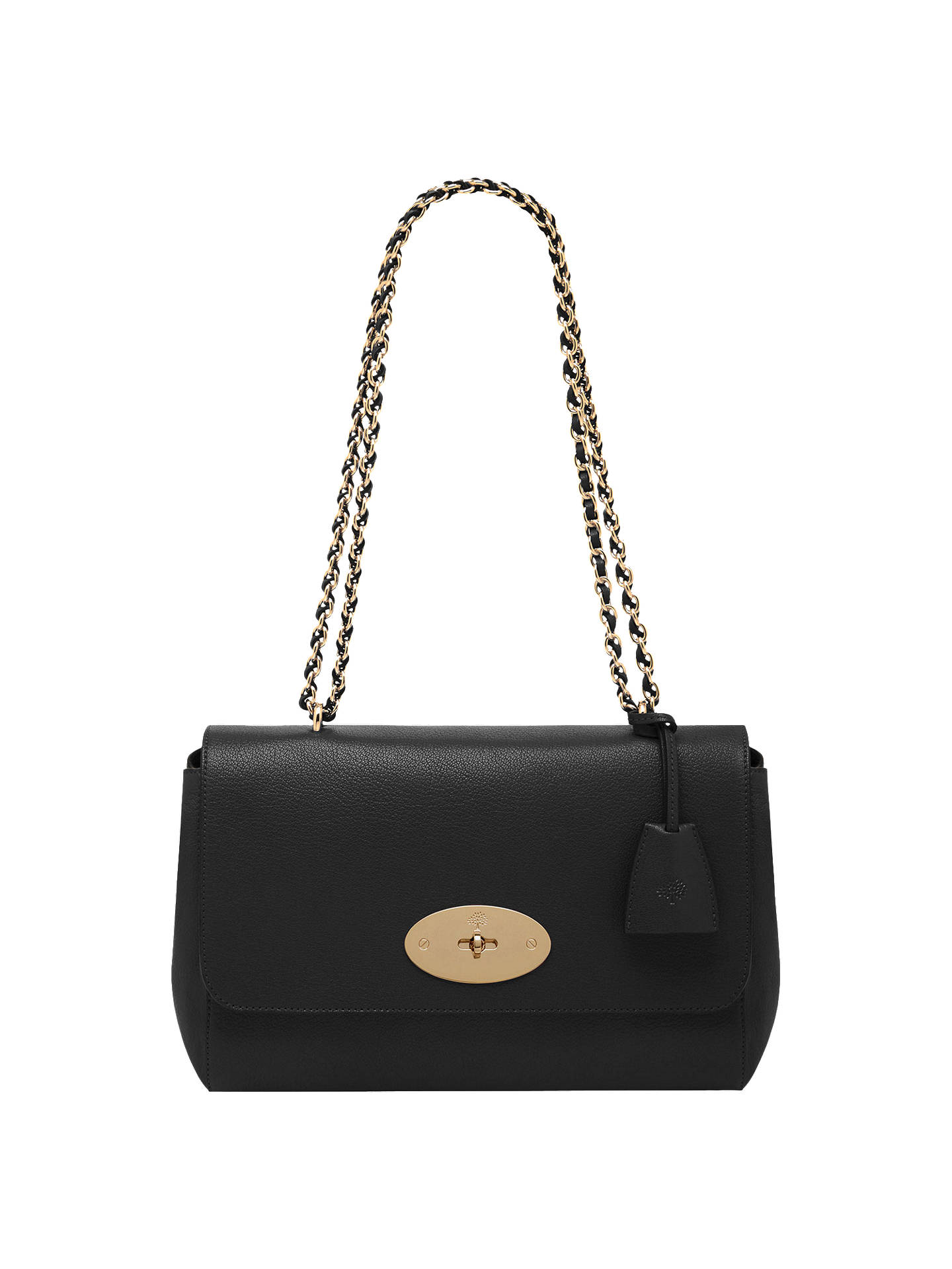 eac12dc827e2 ... real buymulberry lily leather medium shoulder bag black online at  johnlewis a9dcb 961fb