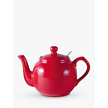 Buy London Pottery Red Farmhouse Filter Teapot, 0.6L Online at johnlewis.com