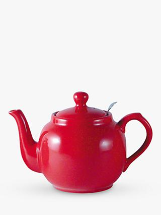 London Pottery Farmhouse Filter Teapot, Red, 600ml