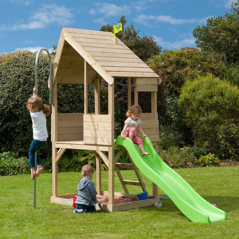 tp toys tp321s wooden playhouse slide set at john lewis. Black Bedroom Furniture Sets. Home Design Ideas