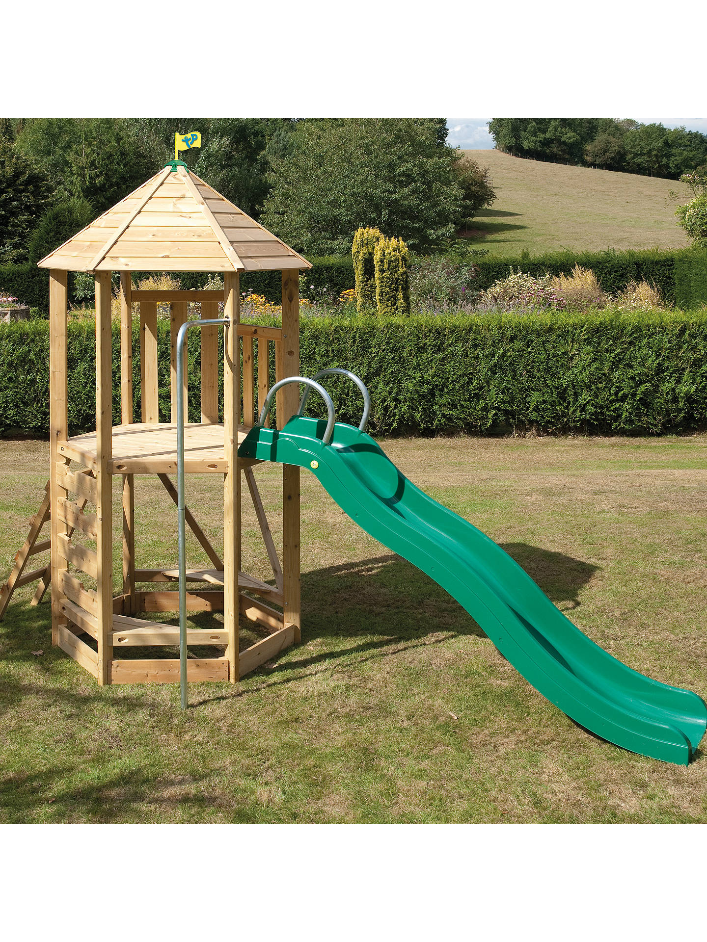 BuyTP Toys CS6 Castlewood Tower & CrazyWavy Slide Set Online at johnlewis.com