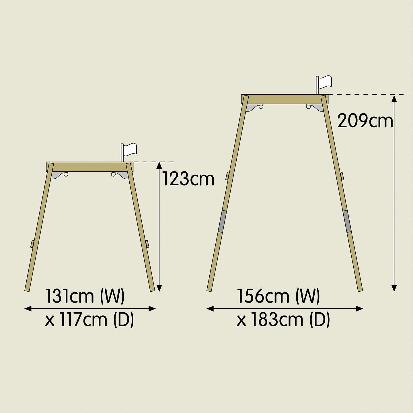 BuyTP ToysTP302P3 New Forest Acorn Swing Frame Set with Quadpod Online at johnlewis.com
