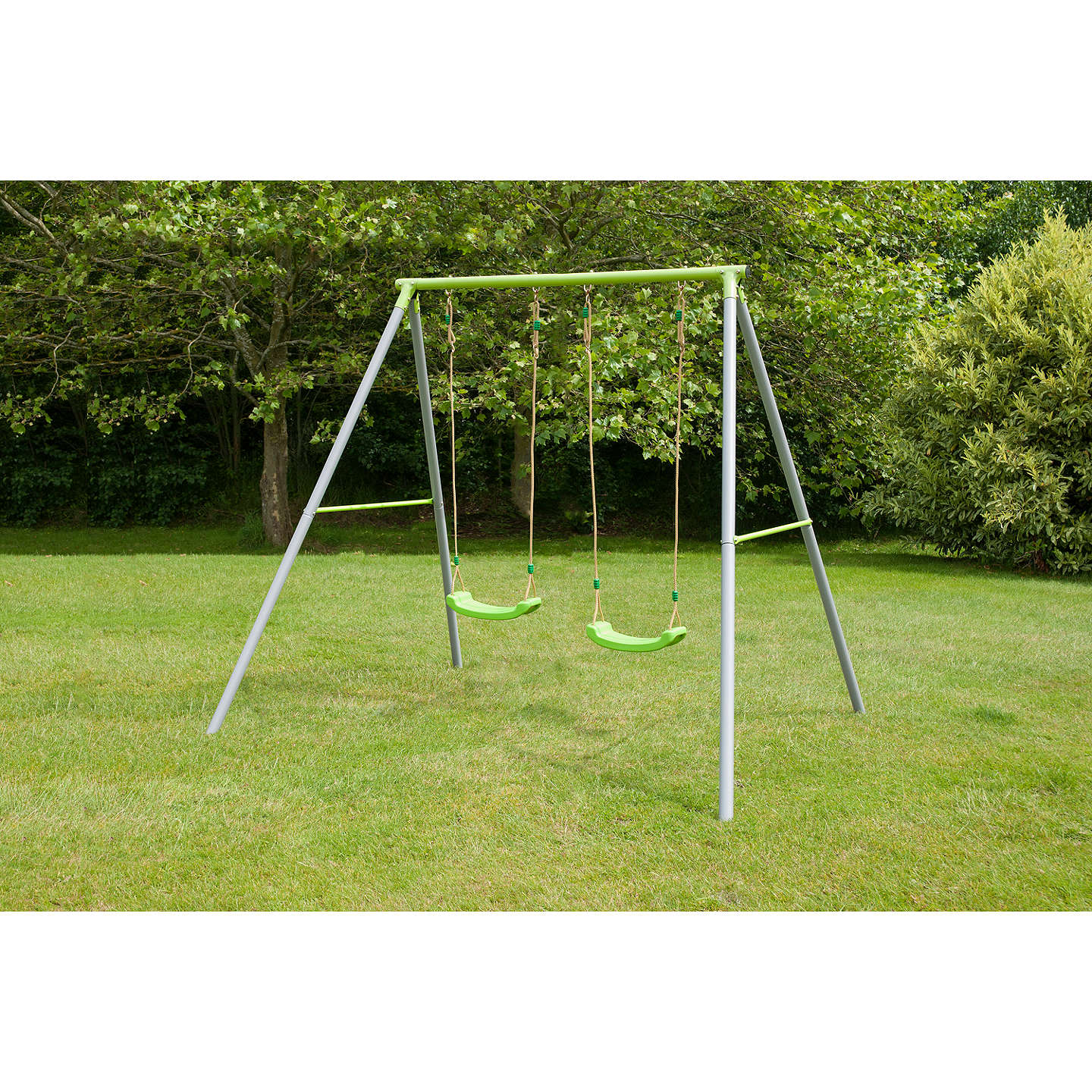 TP Toys TP522 Double Metal Swing Set at John Lewis