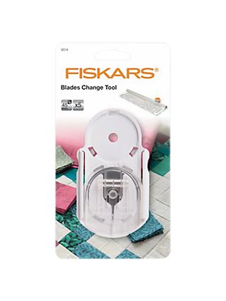 Fiskars Titnium Blade Change Tool And 45mm Rotary Blades, Clear