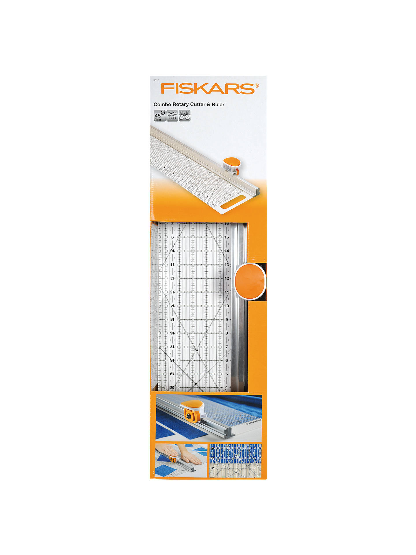 Fiskars Rotary Cutter and Ruler Combination, 6 x 24 Inches