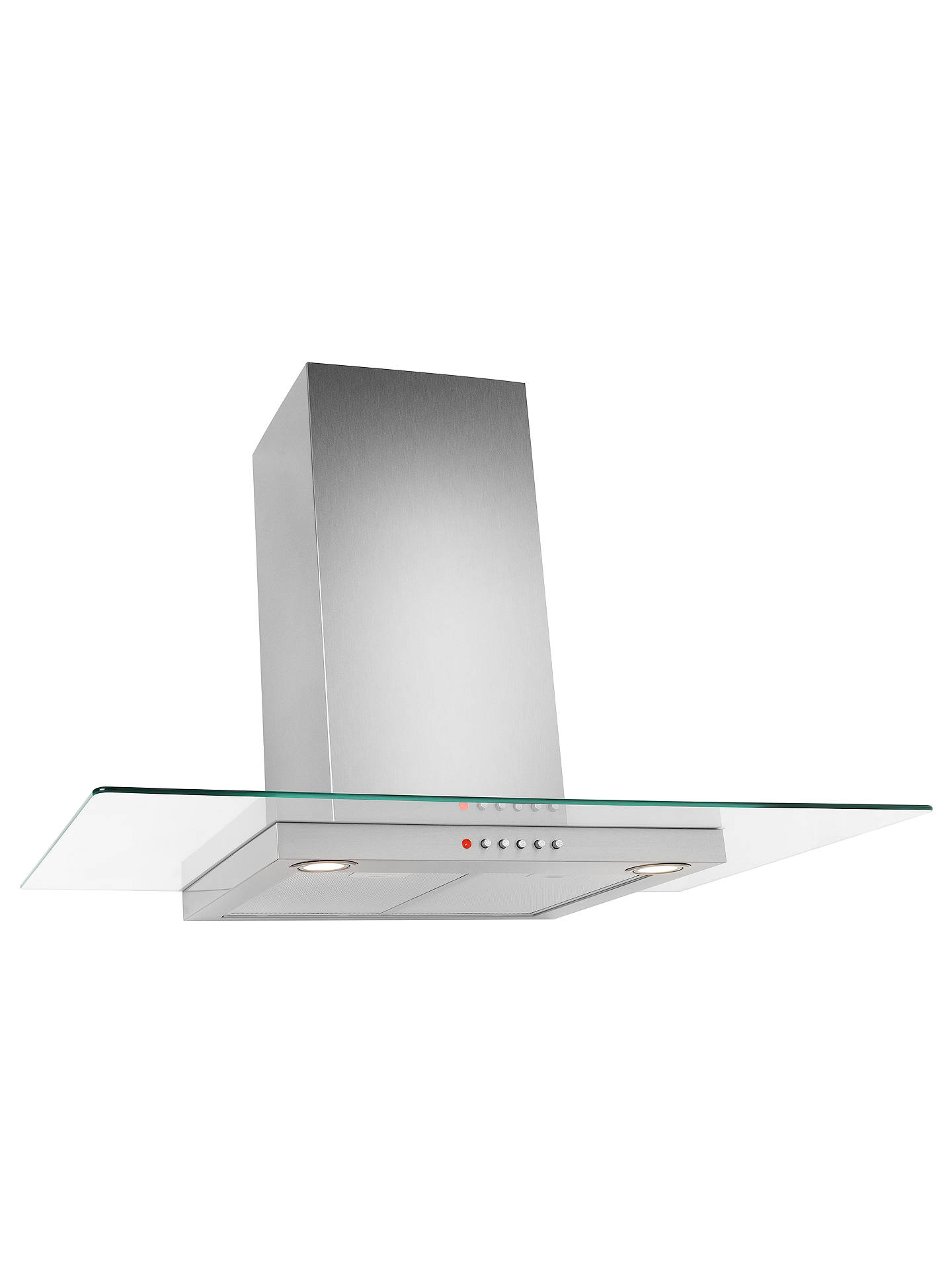 BuyJohn Lewis JLHDA910 Chimney Cooker Hood, Stainless Steel and Flat Clear Glass Online at johnlewis.com