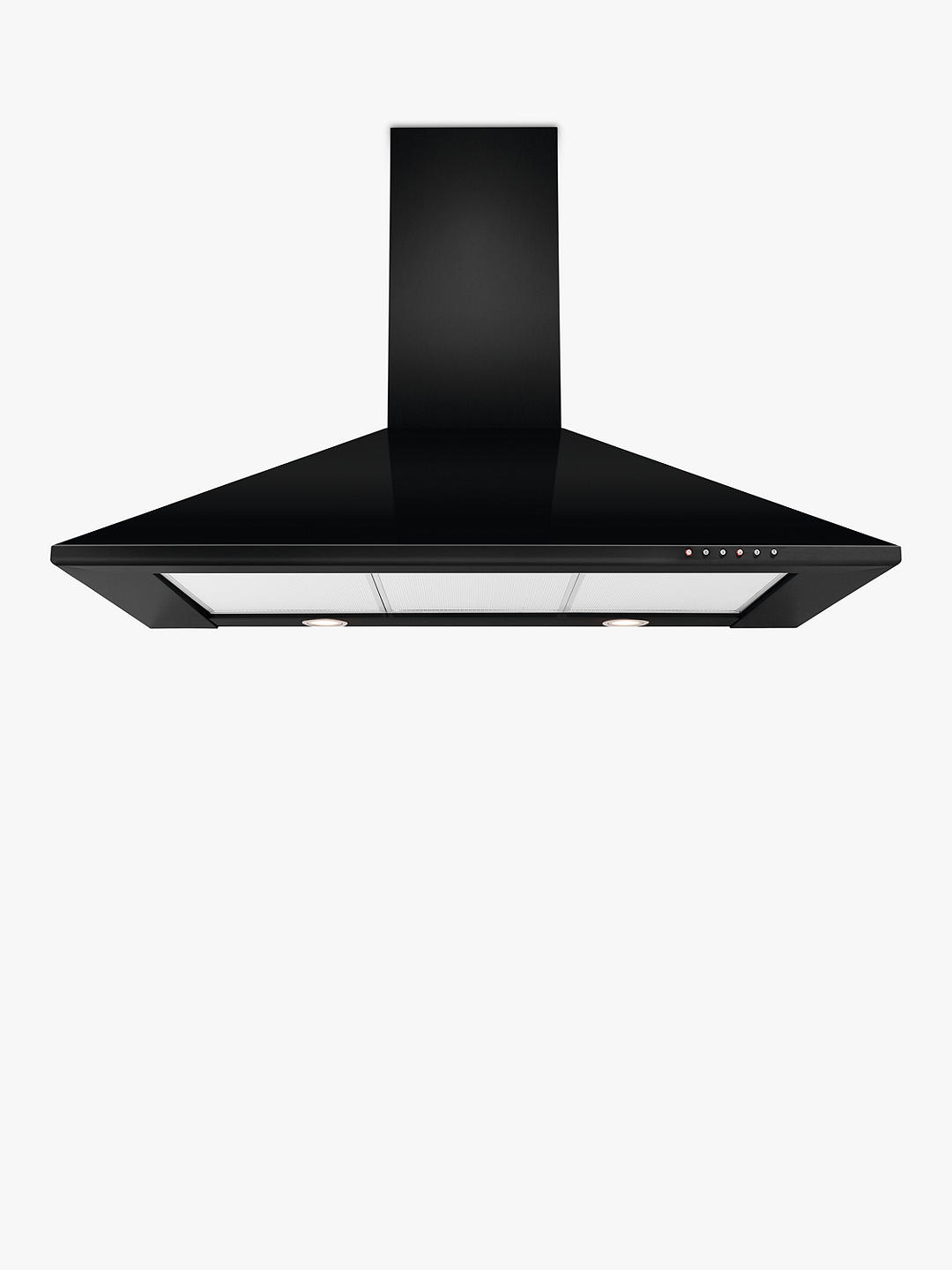 Buy John Lewis & Partners JLHDA912 Chimney Cooker Hood, Black Online at johnlewis.com
