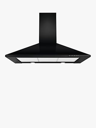 John Lewis & Partners JLHDA912 Chimney Cooker Hood, Black