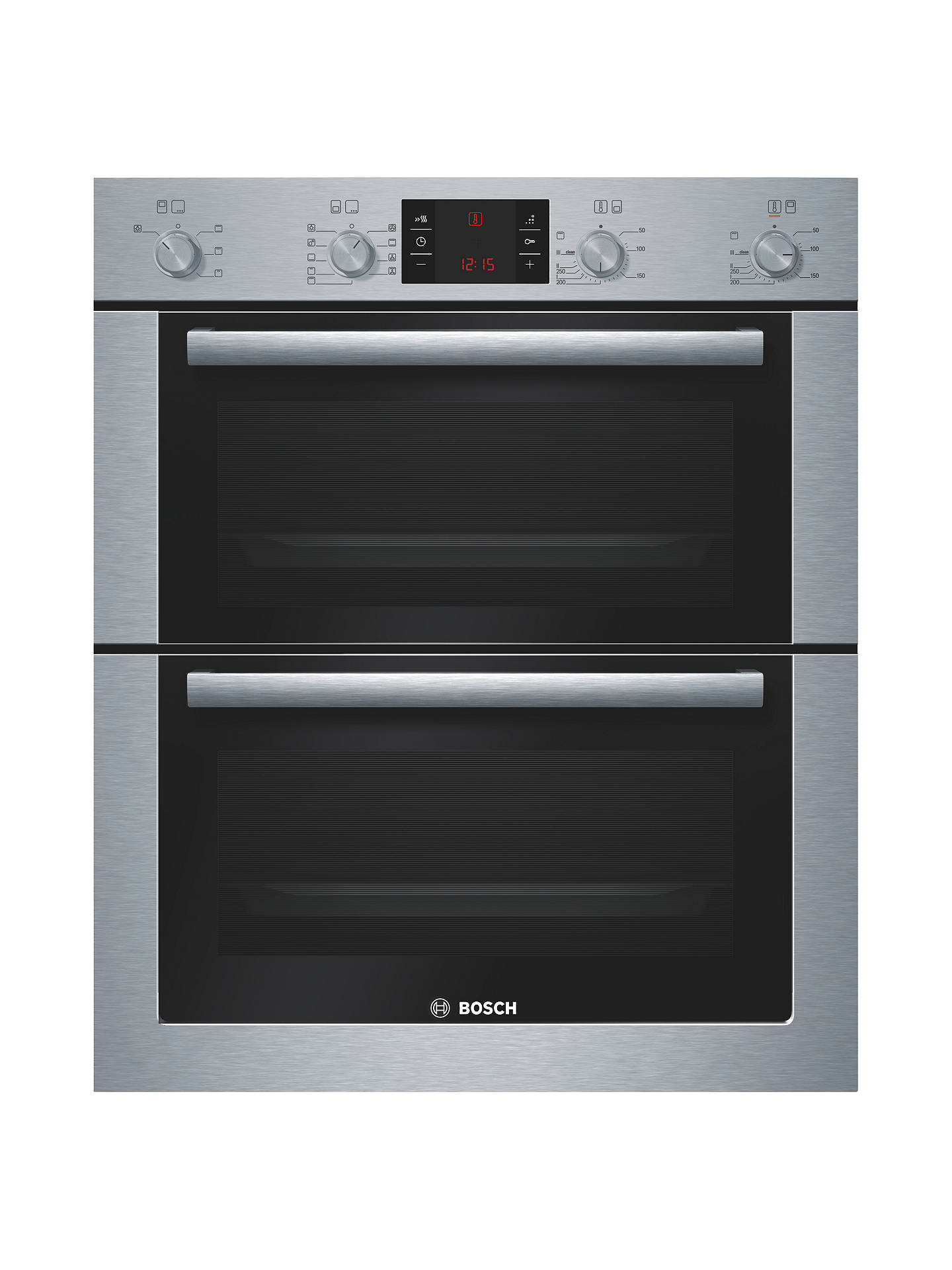 BuyBosch HBN53R550B Double Built-Under Electric Oven, Stainless Steel Online at johnlewis.com