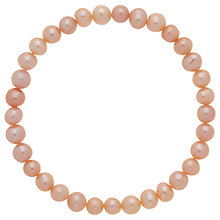 Buy Finesse Freshwater Pearl Stretch Bracelet Online at johnlewis.com