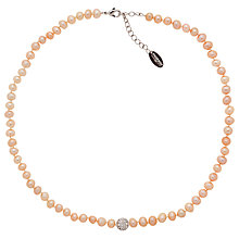 Buy Finesse Freshwater Pearl and Crystal Necklace Online at johnlewis.com