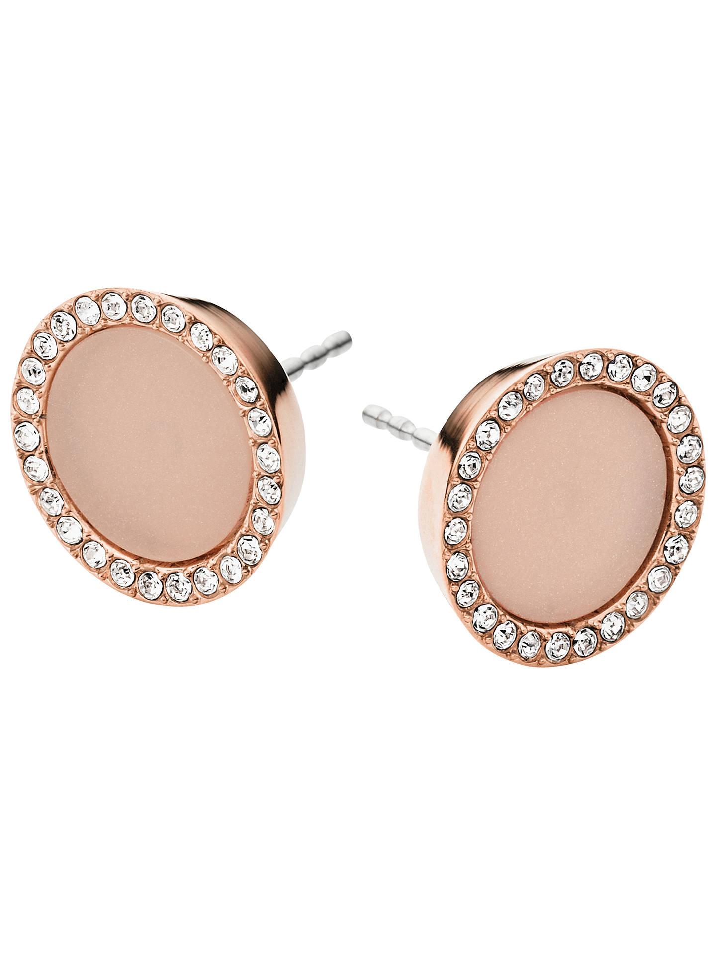 Michael Kors Stud Earrings Rose Gold Online At Johnlewis