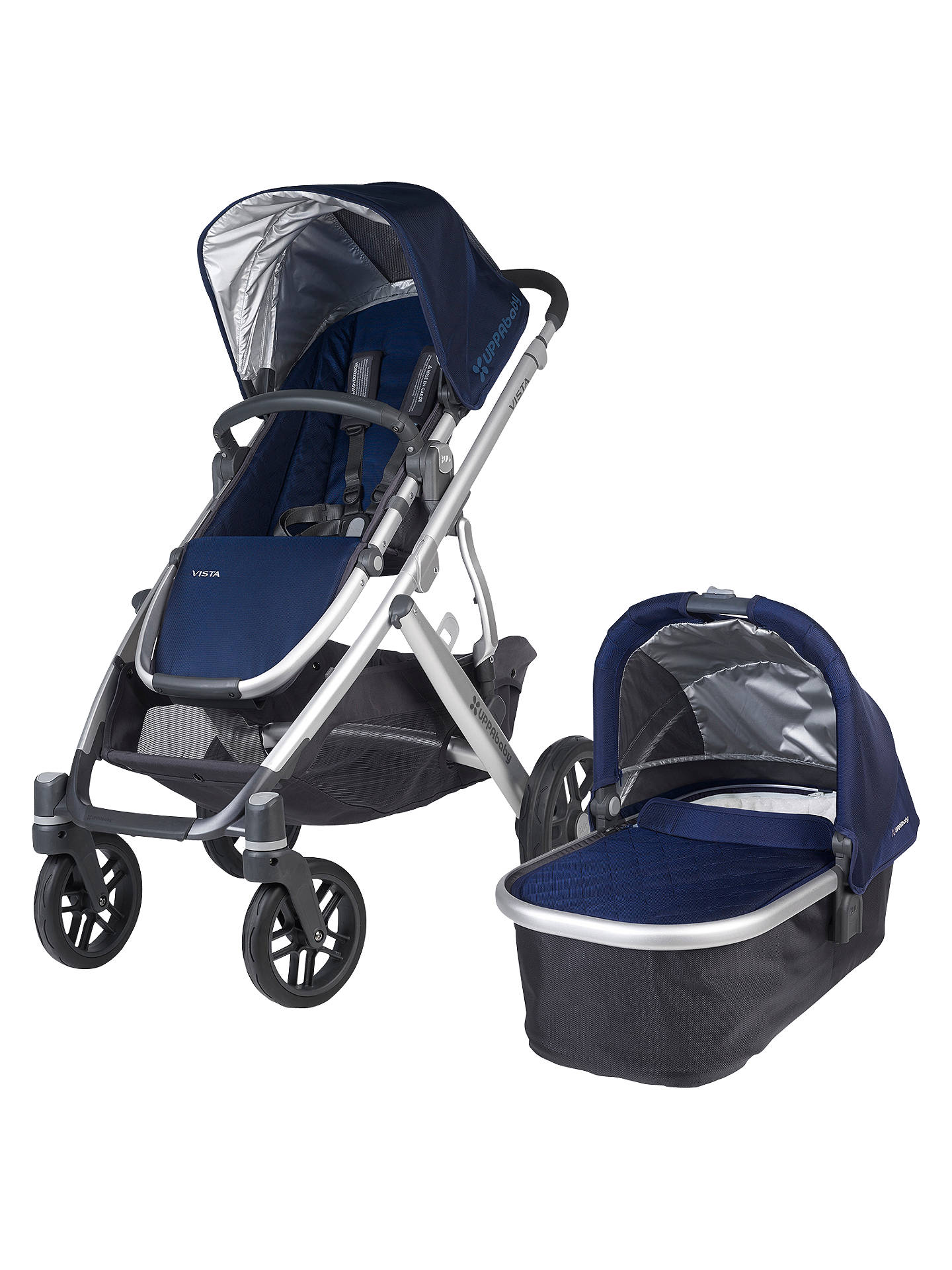 Buy Uppababy Vista Pushchair and Carrycot, Taylor Online at johnlewis.com