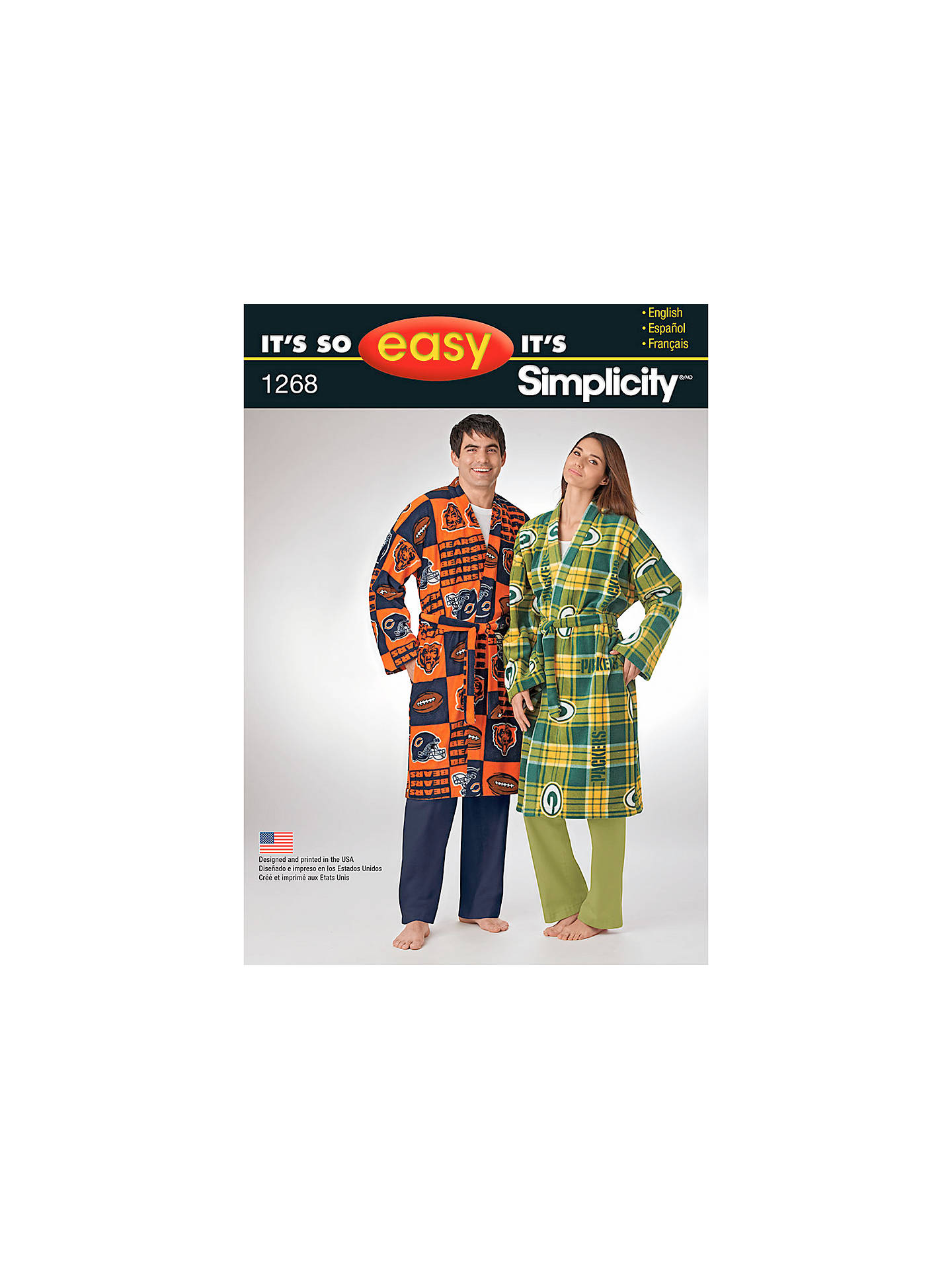 3cdfb45c4c Simplicity It s So Easy Unisex Dressing Gown Sewing Pattern