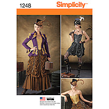 Buy Simplicity Women's Steampunk Costume Sewing Pattern, 1248 Online at johnlewis.com