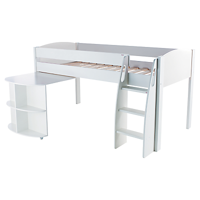 Stompa Uno S Plus Mid-Sleeper Bed Frame with Pull-Out Desk