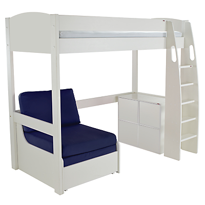 Stompa Uno S Plus High-Sleeper with 4 Door Cube Unit and Chair Bed