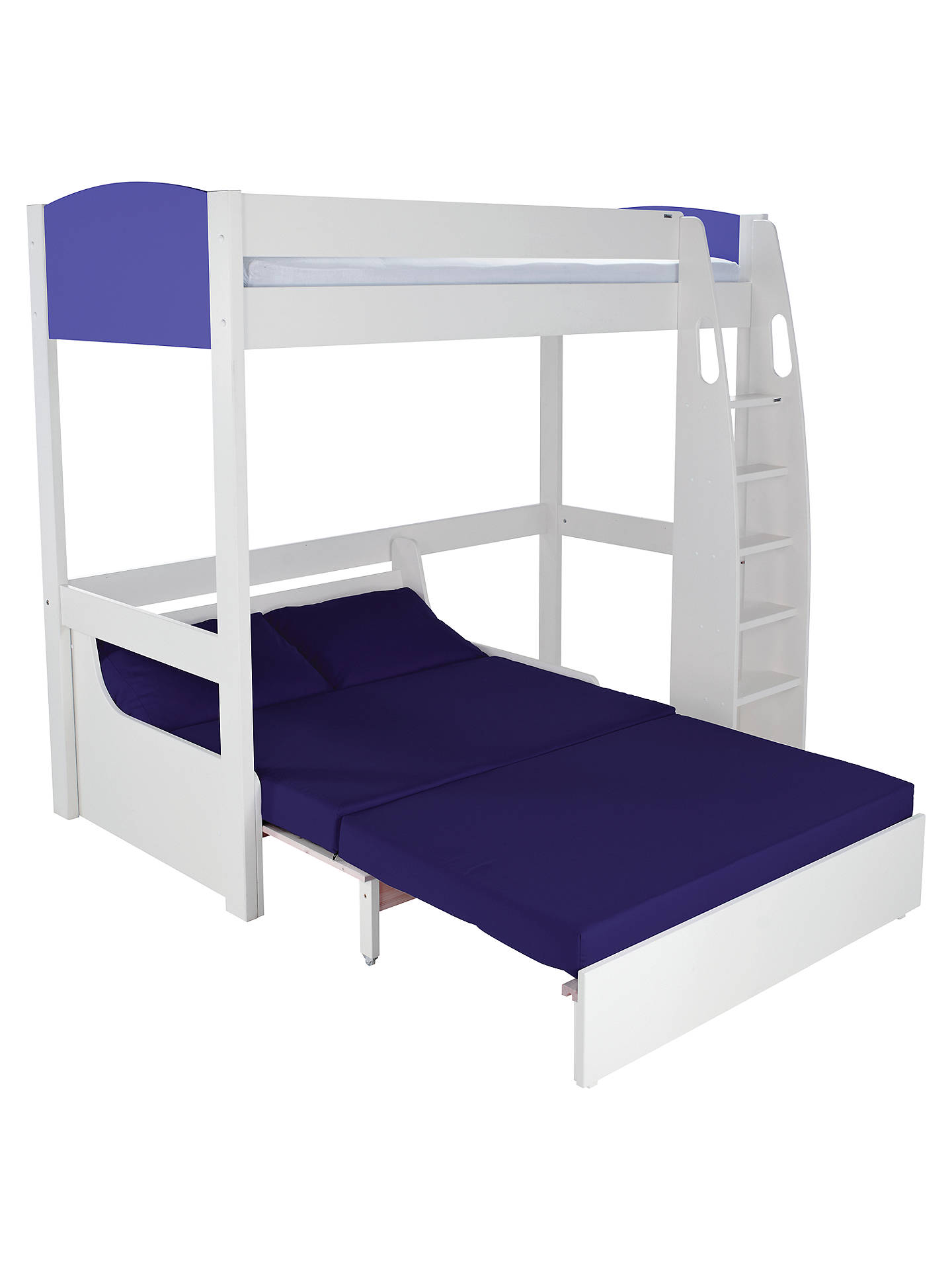 c0ff4f8cacbd Buy Stompa Uno S Plus High-Sleeper with Sofa Bed, Blue/Blue Online ...