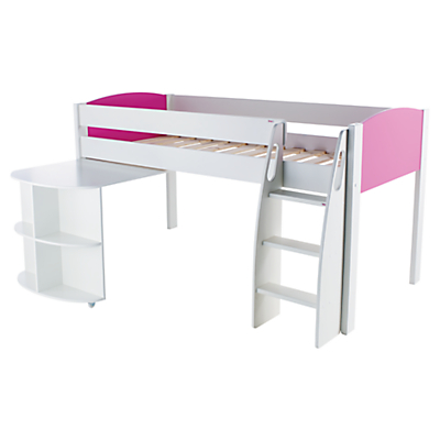 Stompa Uno S Plus Mid-Sleeper Bed with Pull-Out Desk