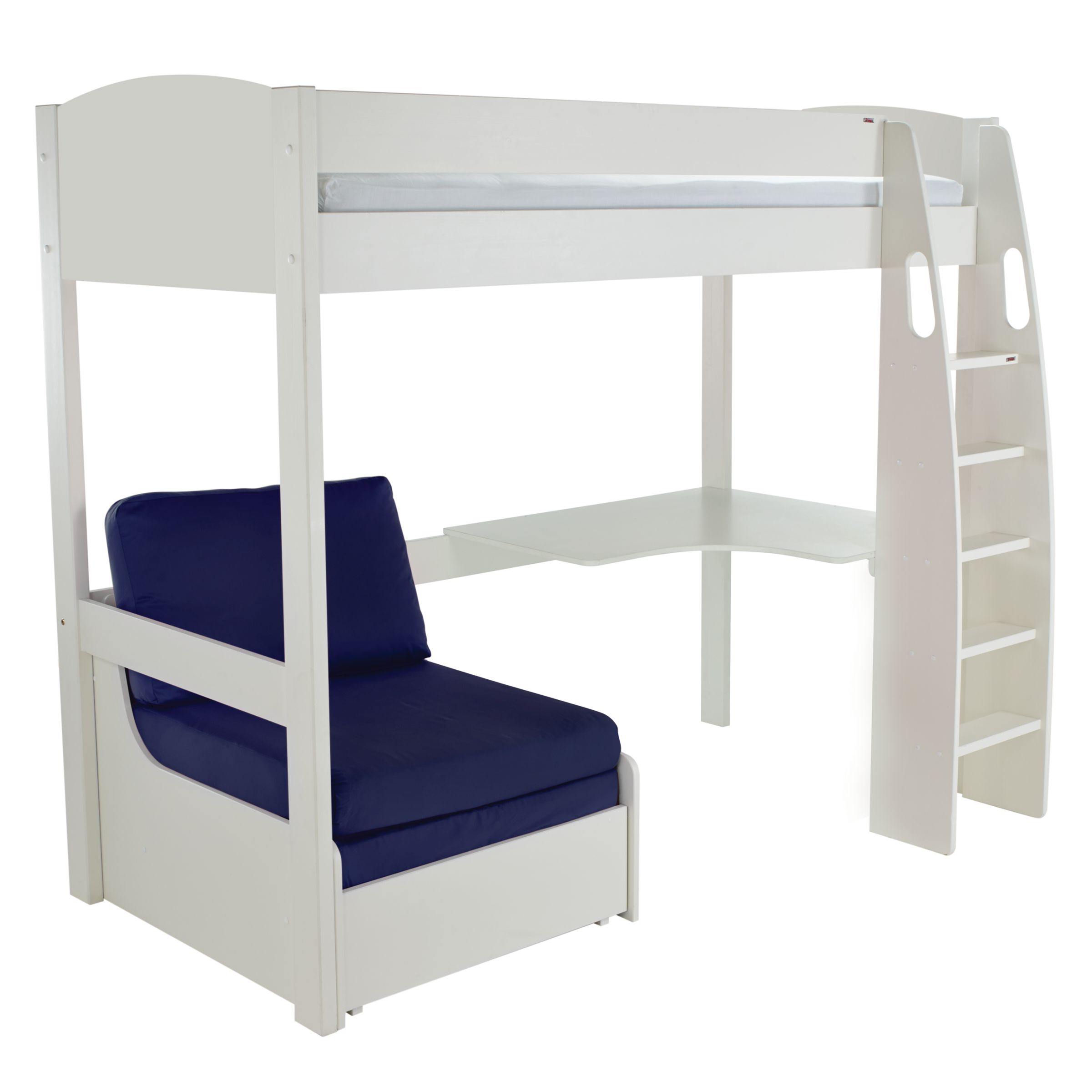 Stompa Uno S Plus High Sleeper Bed With Corner Desk And