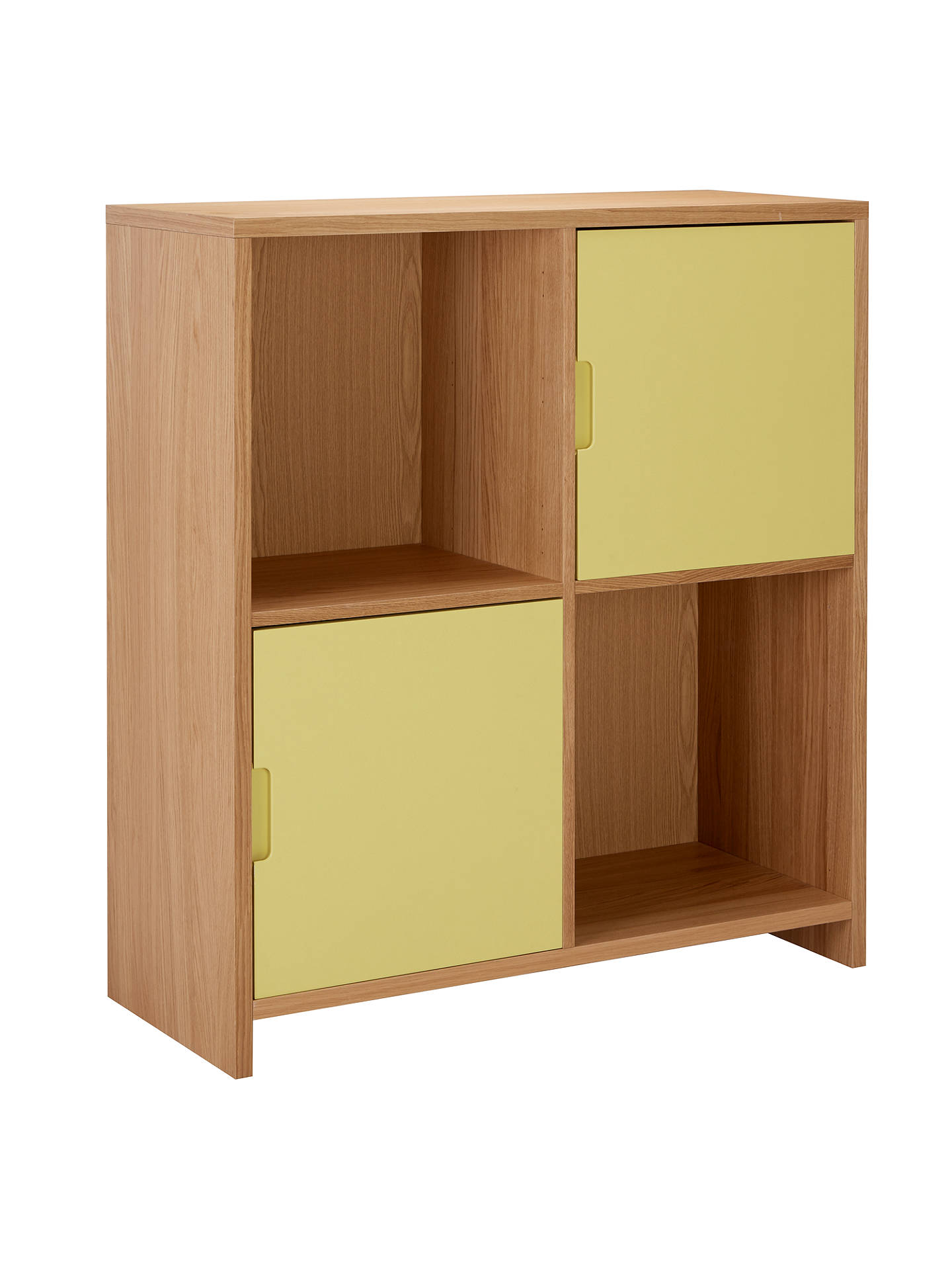 BuyHouse by John Lewis Oxford 2 x 2 Cube Unit with 2 Cupboard Doors Set, Dandelion / Oak Online at johnlewis.com