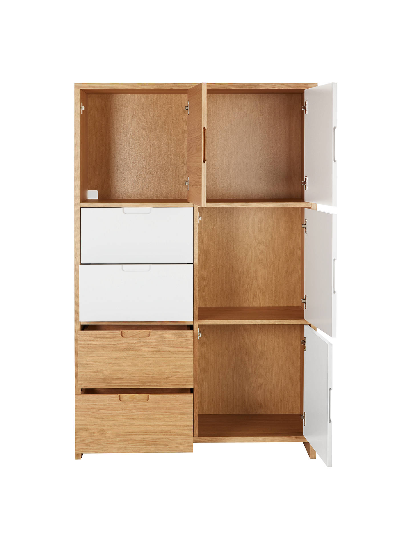 BuyHouse by John Lewis Oxford 3 x 2 Shelf Cube Unit with 3 Doors and 2 Drawers Online at johnlewis.com