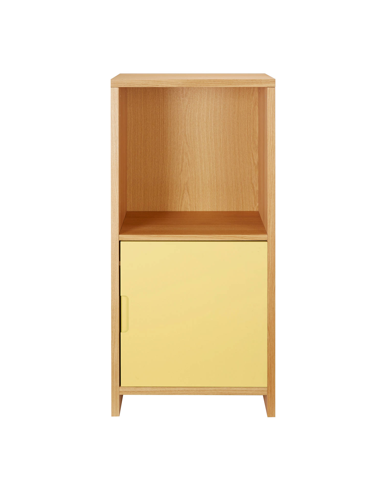 BuyHouse by John Lewis Oxford 1 x 2 Cube Unit with Door, Dandelion / Oak Online at johnlewis.com