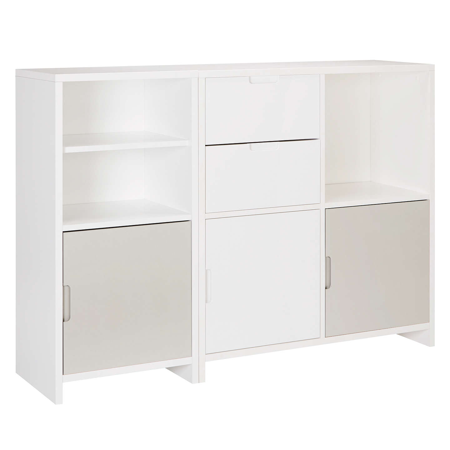 House by John Lewis Oxford Shelving Cube Unit with 3 Doors and 2