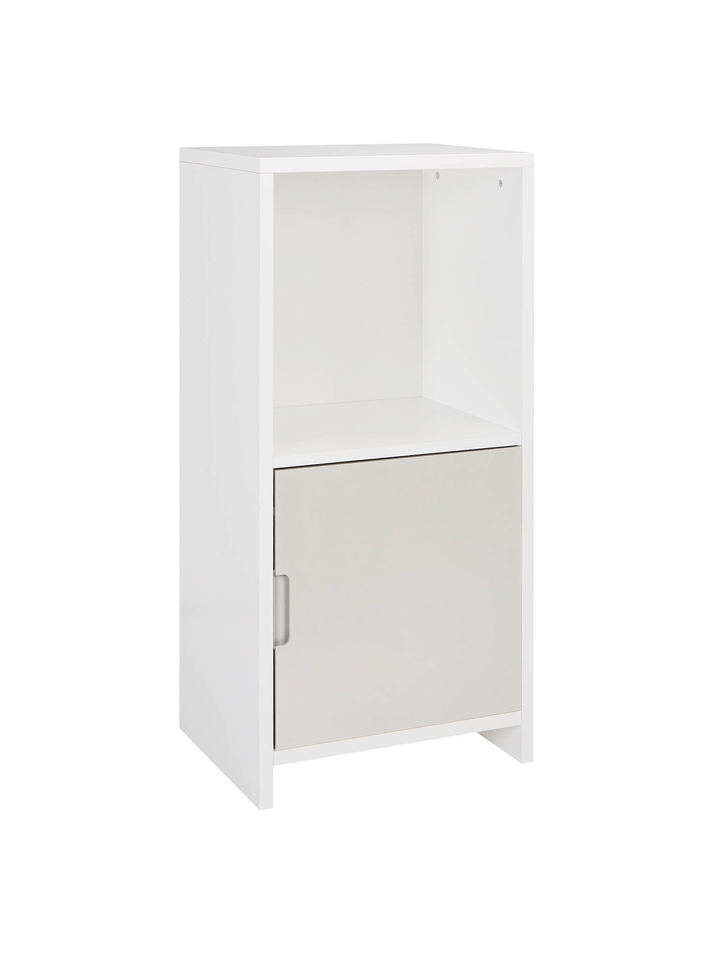 BuyHouse by John Lewis Oxford 1 x 2 Cube Unit with Door, Smoke / White Online at johnlewis.com